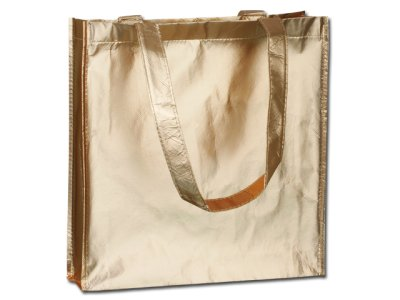 Laminated shopping<br>bag made of textile.