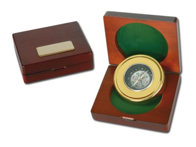 Metal Compass in<br>wooden gift box.