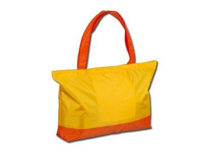 Beach bag made of nylon.