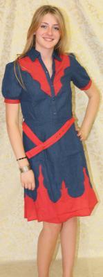 Kleid aus Jeansstoff Damenkleid