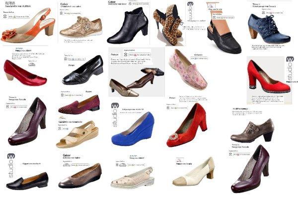 Schuhe im Mix aus Restposten mit  vielen Marken