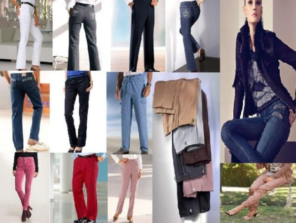 Jeans und Hosen für Damen und wenige Herren
