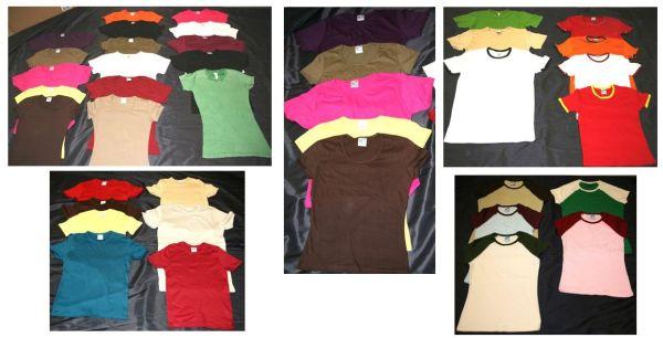 Großer Mix Damen- Herren und Jugend T-Shirts