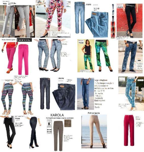 Damen- und Herrenhosen aus Versandhausrestposten