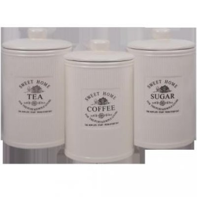 Storage tin coffee<br> tin tea caddy<br>sugar bowl Shabby