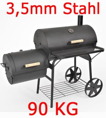Solid BBQ Smoker<br> grill cart<br>charcoal grill 90KG