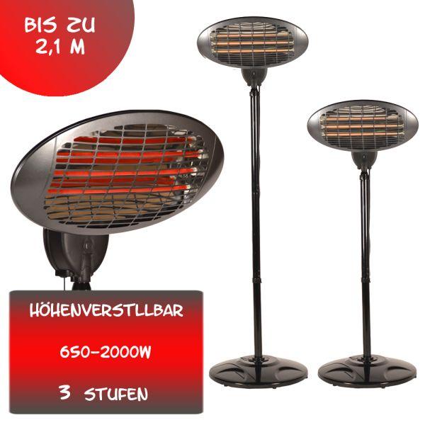 2000 Watt Infrarot<br> Heizstrahler<br>Standheizer Terras