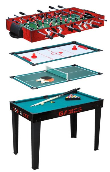 Games Table (4-in-1)