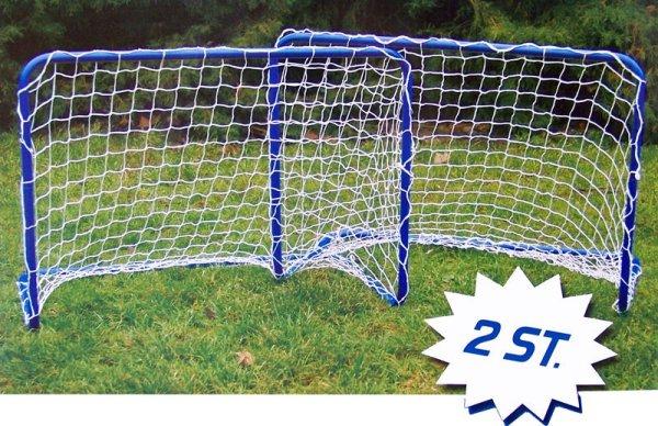 Set mit 2 Mini-Fussballtoren (78x56x45cm)