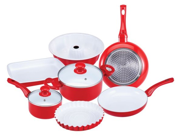 Ceramic Cookware<br>Set (9 pieces)