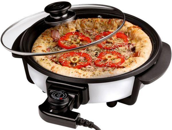 Pizzapfanne mit Glasdeckel (40cm)