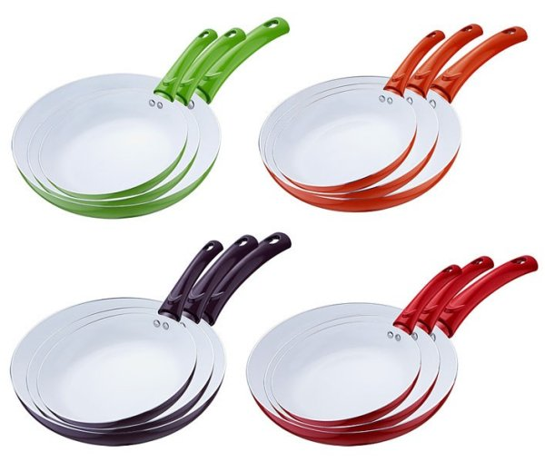 Ceramic pans (set of 3)