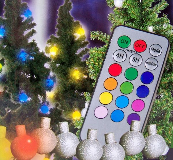 Christmas balls<br> with remote<br>control (set 12 pcs)