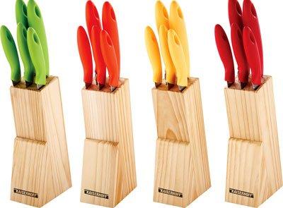 Messer mit<br> Messerblock Set (6<br>Stück)