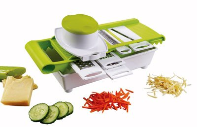 Grater with tray 5-in-1