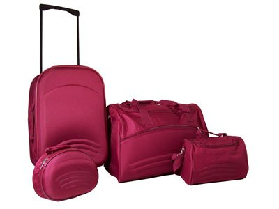 Luggage set with trolley (4 pcs)