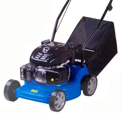 Der Benzin-Rasenmäher