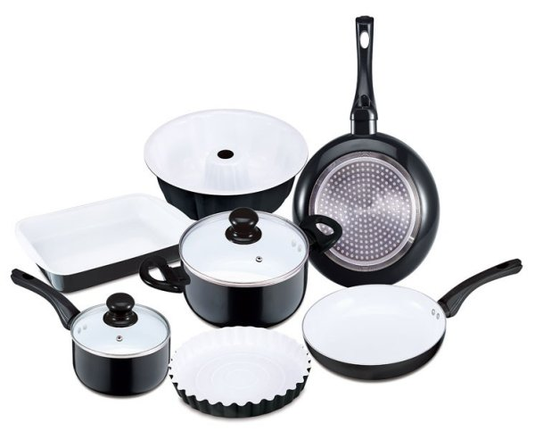 Bio Ceramic<br>cookware set (9 pcs)