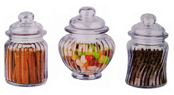 Jars with lid (set of 3)