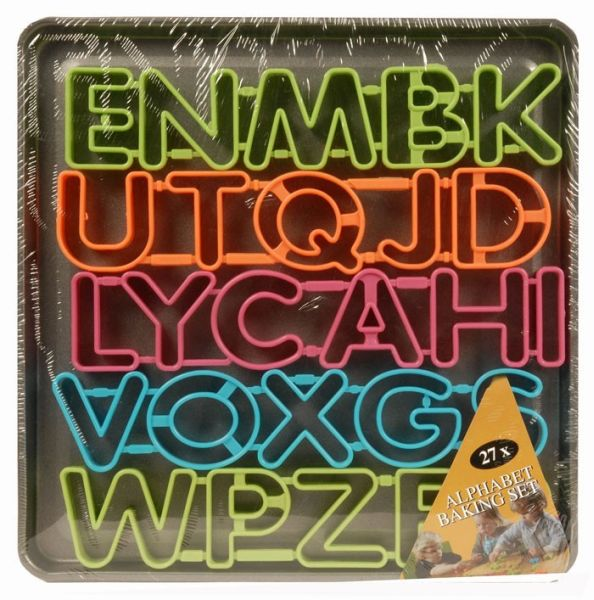 Alphabet bakset (27 Stück)
