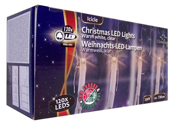 Weihnachts LED-Lampen weiss (120 LED´s)