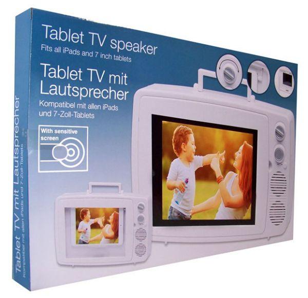 Tablet TV speaker