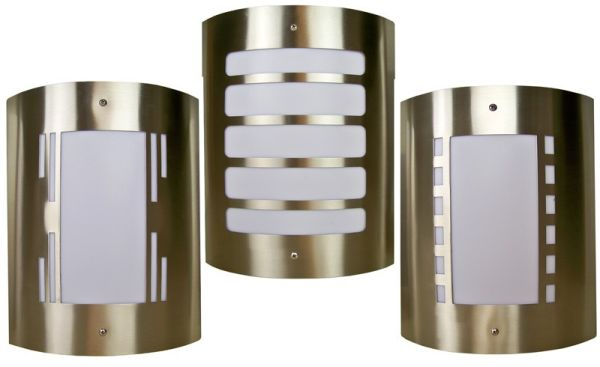 Stainless steel<br> outdoor light (3<br>designs)