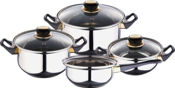 Saucepans with lid (7 parts)