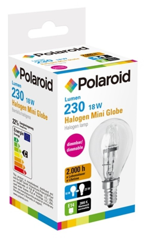 Polaroid Halogenlampe Mini Globe 18W, 230 Lumen