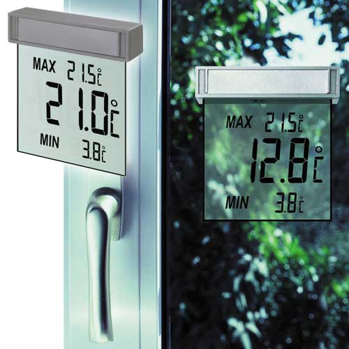TFA 30.1025 Digitales Fensterthermometer mit gr...