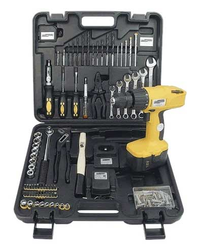 Mannesmann M17975 tool box set, 75 pieces ...