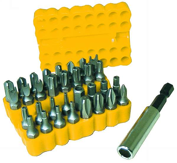 McDrill bit set<br>  Professional<br>Security Bitkit  34