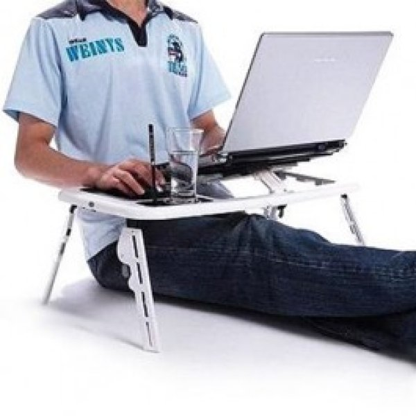 Portable Table with Fan