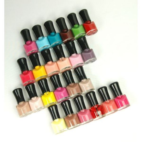 BOX 12 COLORS NAIL POLISH