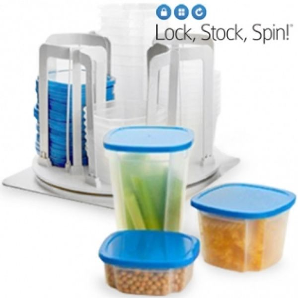 PLASTIC CONTAINERS<br> SPIN LOCK STOCK<br>(49 PIECES