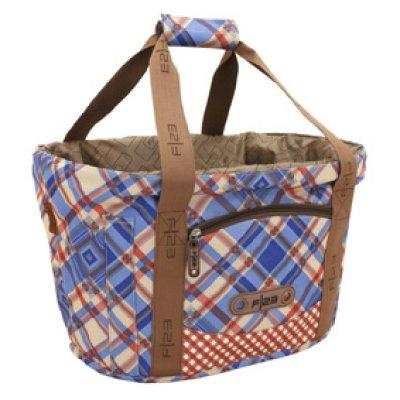 Basket, Quadro,<br> poliester,<br>niebieski / czerwony