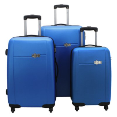 Trolley Hartschalen-Set, F|23, ABS, 3tlg.,  blau