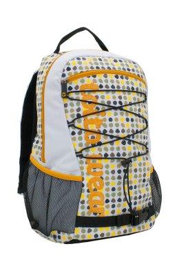 Rucksack, Mosaic,<br> Polyester,<br>weiss/gelb
