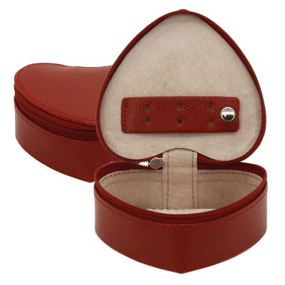 RV jewelry heart,<br>synthetics, red