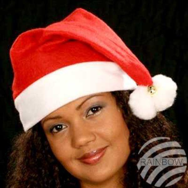Weihnachtsmütze<br> Nikolausmütze 2<br>Bommel, 2 Glocken