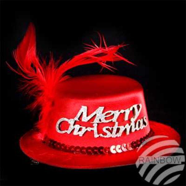 WM-131 kerstmuts<br> Merry Christmas<br>met haar Spang