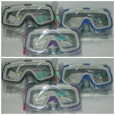 Glasses with diving mask