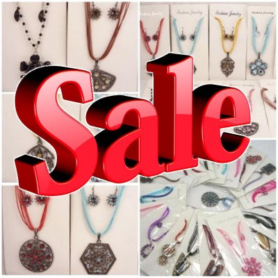 JEWELRY-NECKLACES, EARRINGS .. LIQUIDATION