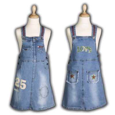 Denim Kleider Girls R 723. Mode für Kids