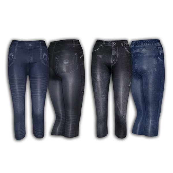 Capri Leggings<br> stílus Jeans<br> Fashion fiatalkorú ...