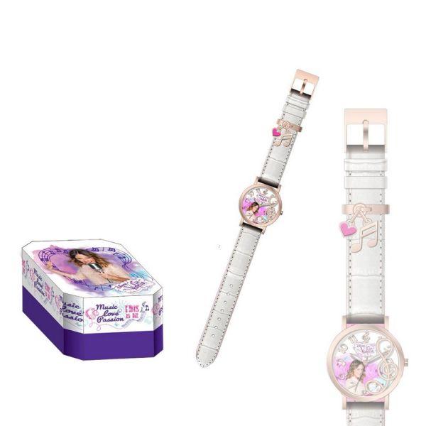 Analogowy zegarek<br>Violetta - Biały
