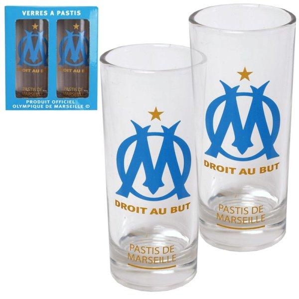 Box 2 glasses Pastis OM