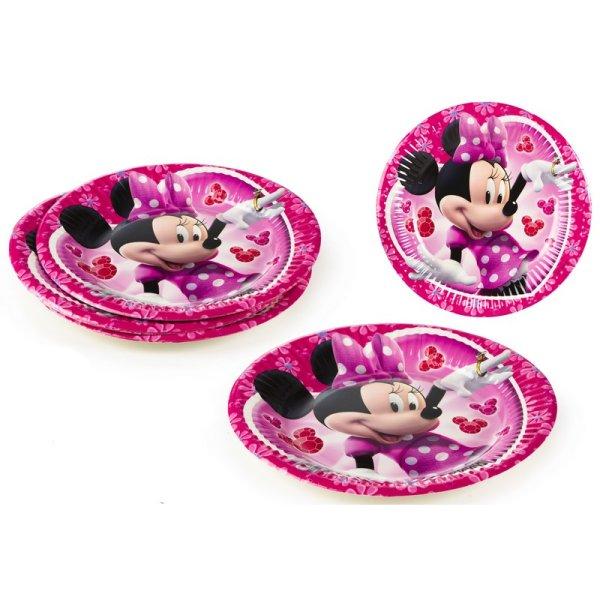 Einwegteller Pack<br>8 Minnie - 19,5cm