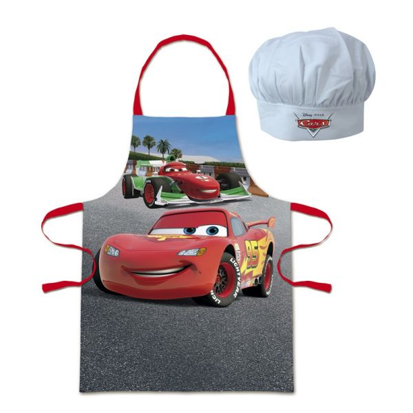 Apron Set + Head<br>Toque Cars