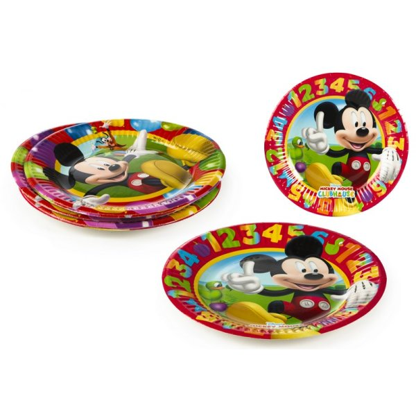 Disposable Plates<br> Pack 8 McKey -<br>19,5cm